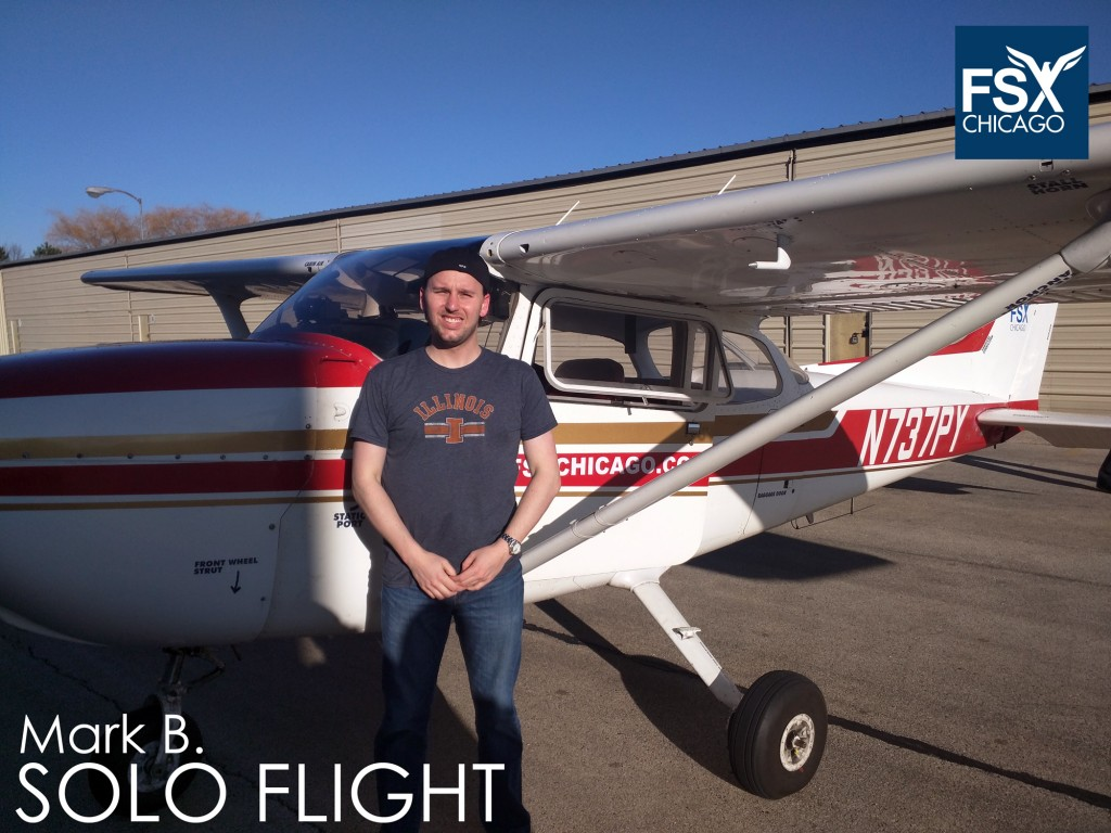 Start your license today: Call 708-299-8246. Solo flight: Mark B. KDPA, Dec 2015