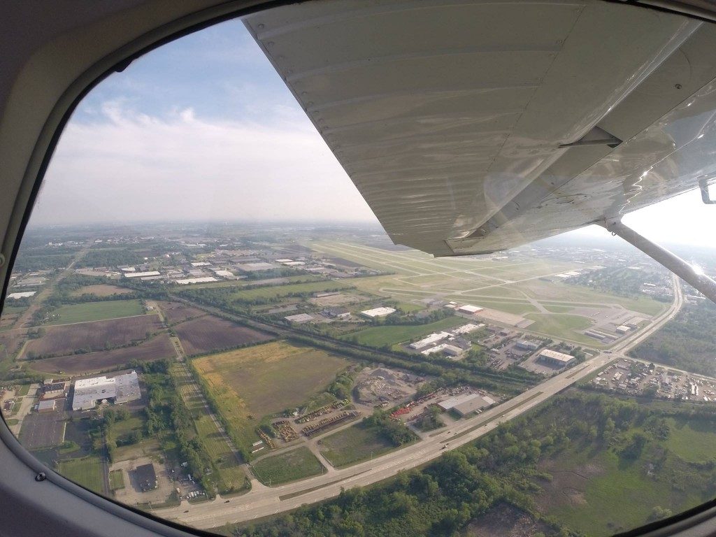 Off our left wing - Rwy 10 Dupage Airport